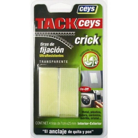 Cinta adhesiva fijacion tackceys crick blanca
