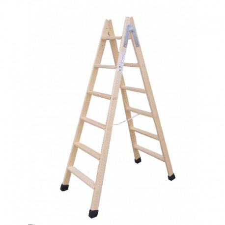 Escalera madera doble 9