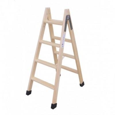 Escalera madera 3 peldaños