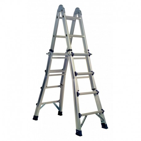 Escalera multiusos aluminio 4x4
