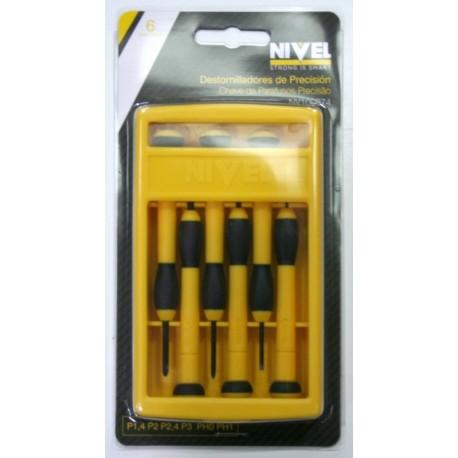 Destornilladores precision 6 piezas