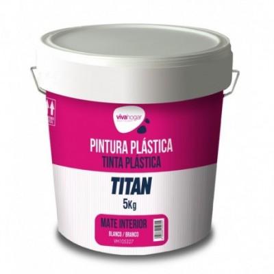 Pintura plastica 5 kg blanco