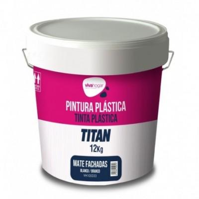 Pintura plastica 12 kg blanco