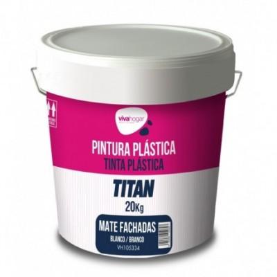 Pintura plastica 20 kg blanco