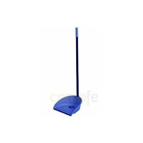 Recogedor c/palo bimaterial azul