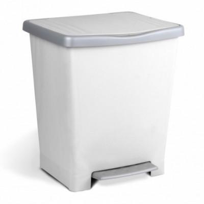 Cubo pedal 22 lts. blanco