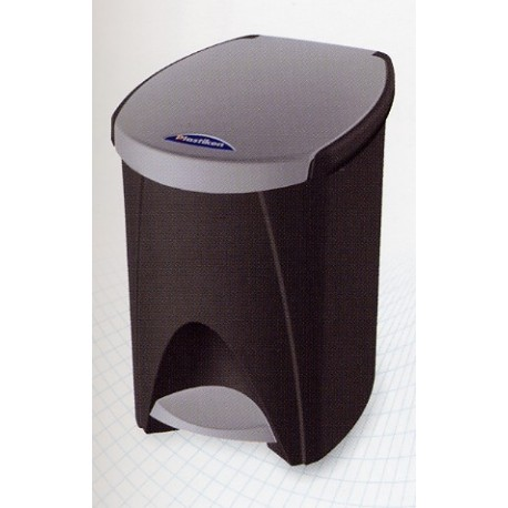 Cubo pedal 7 lts. grafito