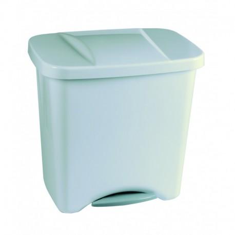 Cubo pedal 50l plata