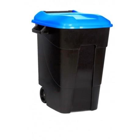 Contenedor plastico 100 ltr. tapa azul