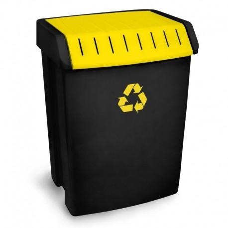Contenedor reciclaje 50lt amarillo