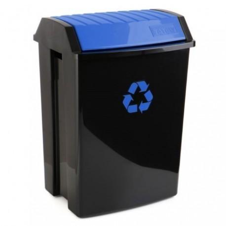 Contenedor reciclaje 50lt azul