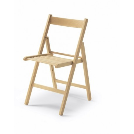 Silla plegable madera natural