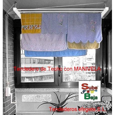 Tendedero techo manivela 2 mt. tenmv200