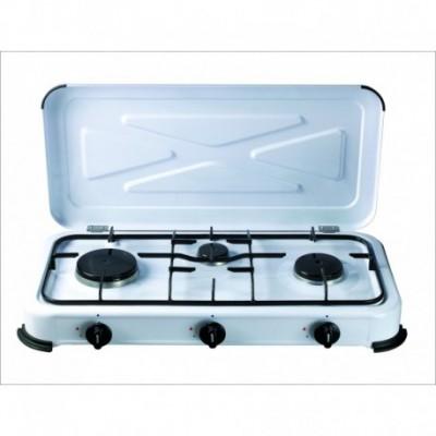 Cocina portatil gas 3 fuegos