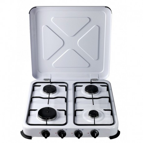 Cocina portatil gas 4 fuegos