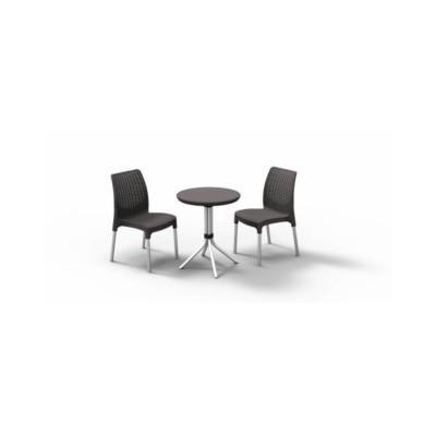 Conjunto 2sillones mesa negro