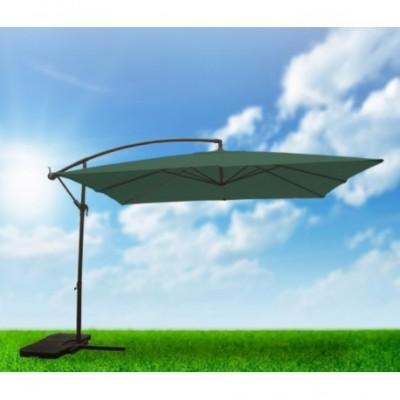Parasol 3x3 m aluminio verde