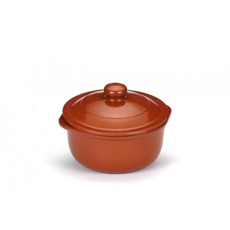 Cazuela cocina c/ tapa 31.5cm barro