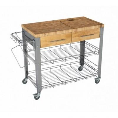 Carro cocina acero/madera