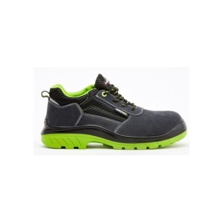 Zapato seguridad bellota serraje negra verde t47