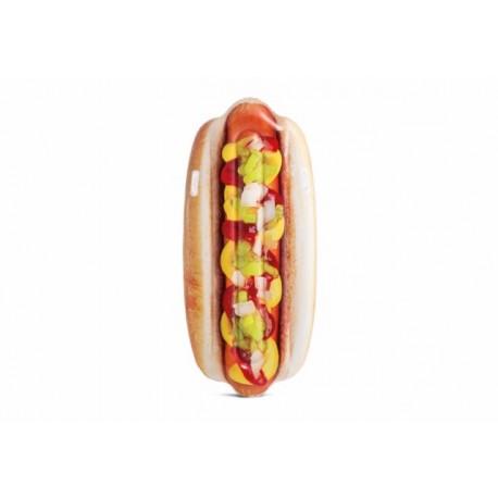 Colchoneta hinchable hotdog plastico 180x89cm