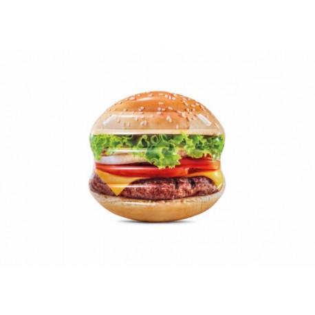 Colchoneta hinchable hamburguesa plastico 145x142cm