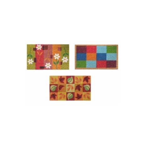 Felpudo rectangular coco colores estampados varios