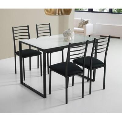 Mesa cocina+ 4 sillas metal...